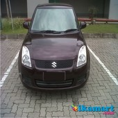 jual suzuki swift st manual 2008 burgundy terawat solo