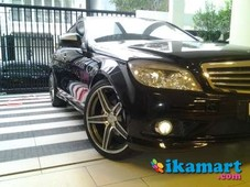 jual mercedes benz c200k 2008 black amg style very mint condition