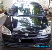 hyundai getz 1.3 gl 2005 manual hitam