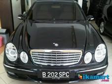 jual mercy e280 7 g-tronik 2007 hitam