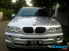 bmw x5 th 2002 automatic warna silver metalik