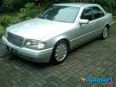 jual mercy w202 c 200 at 1996 silver
