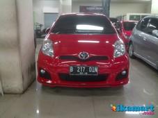 jual toyota yaris trd new model a t 2012 red orisinil